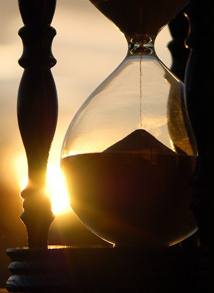 the hourglass of time